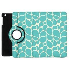 Blue Abstract Water Drops Pattern Apple Ipad Mini Flip 360 Case by TastefulDesigns