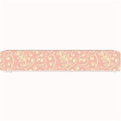 Girly Pink Leaves And Swirls Ornamental Background Small Bar Mats