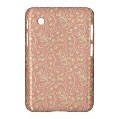 Girly Pink Leaves And Swirls Ornamental Background Samsung Galaxy Tab 2 (7 ) P3100 Hardshell Case  by TastefulDesigns