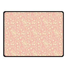 Girly Pink Leaves And Swirls Ornamental Background Double Sided Fleece Blanket (small)  by TastefulDesigns