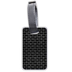 Brick1 Black Marble & Silver Brushed Metal Luggage Tag (two Sides) by trendistuff