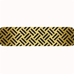 Woven2 Black Marble & Gold Brushed Metal (r) Large Bar Mat by trendistuff