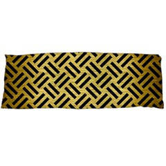 Woven2 Black Marble & Gold Brushed Metal (r) Body Pillow Case Dakimakura (two Sides) by trendistuff