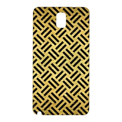 Woven2 Black Marble & Gold Brushed Metal (r) Samsung Galaxy Note 3 N9005 Hardshell Back Case by trendistuff