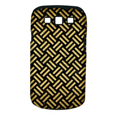 Woven2 Black Marble & Gold Brushed Metal Samsung Galaxy S Iii Classic Hardshell Case (pc+silicone) by trendistuff