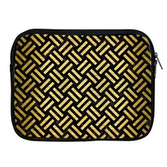 Woven2 Black Marble & Gold Brushed Metal Apple Ipad Zipper Case by trendistuff