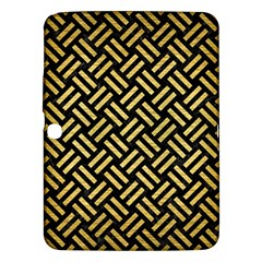 Woven2 Black Marble & Gold Brushed Metal Samsung Galaxy Tab 3 (10 1 ) P5200 Hardshell Case  by trendistuff