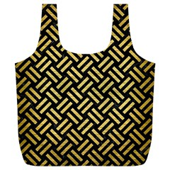 Woven2 Black Marble & Gold Brushed Metal Full Print Recycle Bag (xl)