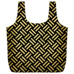 WOVEN2 BLACK MARBLE & GOLD BRUSHED METAL Full Print Recycle Bag (XL) Front