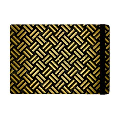 Woven2 Black Marble & Gold Brushed Metal Apple Ipad Mini 2 Flip Case by trendistuff