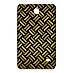 Woven2 Black Marble & Gold Brushed Metal Samsung Galaxy Tab 4 (7 ) Hardshell Case  by trendistuff