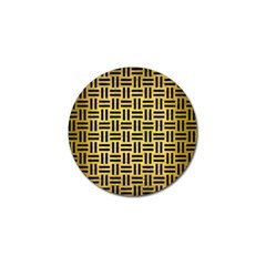 Woven1 Black Marble & Gold Brushed Metal (r) Golf Ball Marker (4 Pack) by trendistuff
