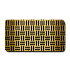 Woven1 Black Marble & Gold Brushed Metal (r) Medium Bar Mat by trendistuff