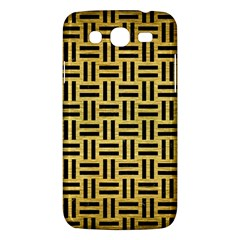 Woven1 Black Marble & Gold Brushed Metal (r) Samsung Galaxy Mega 5 8 I9152 Hardshell Case  by trendistuff