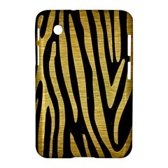 Skin4 Black Marble & Gold Brushed Metal (r) Samsung Galaxy Tab 2 (7 ) P3100 Hardshell Case  by trendistuff