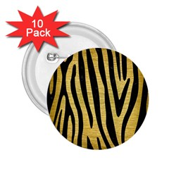 Skin4 Black Marble & Gold Brushed Metal 2 25  Button (10 Pack) by trendistuff