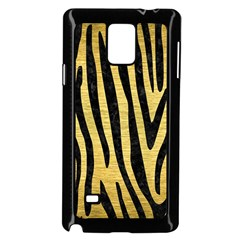 Skin4 Black Marble & Gold Brushed Metal Samsung Galaxy Note 4 Case (black) by trendistuff