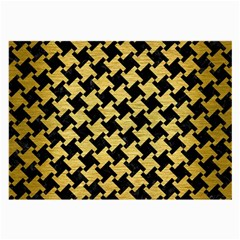 Houndstooth2 Black Marble & Gold Brushed Metal Large Glasses Cloth (2 Sides) by trendistuff