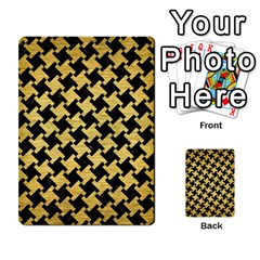 Houndstooth2 Black Marble & Gold Brushed Metal Multi Purpose Cards (rectangle) by trendistuff