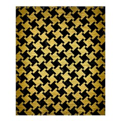 Houndstooth2 Black Marble & Gold Brushed Metal Shower Curtain 60  X 72  (medium) by trendistuff