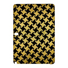 Houndstooth2 Black Marble & Gold Brushed Metal Samsung Galaxy Tab Pro 12 2 Hardshell Case by trendistuff