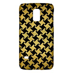 Houndstooth2 Black Marble & Gold Brushed Metal Samsung Galaxy S5 Mini Hardshell Case  by trendistuff