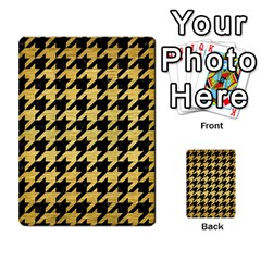 Houndstooth1 Black Marble & Gold Brushed Metal Multi Purpose Cards (rectangle) by trendistuff