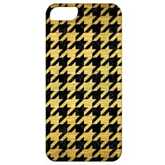 Houndstooth1 Black Marble & Gold Brushed Metal Apple Iphone 5 Classic Hardshell Case by trendistuff