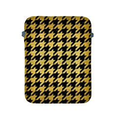 Houndstooth1 Black Marble & Gold Brushed Metal Apple Ipad 2/3/4 Protective Soft Case
