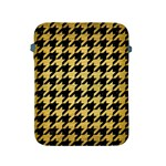 HOUNDSTOOTH1 BLACK MARBLE & GOLD BRUSHED METAL Apple iPad 2/3/4 Protective Soft Case Front
