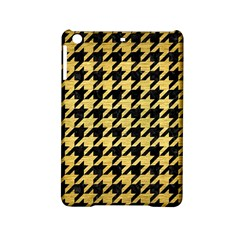Houndstooth1 Black Marble & Gold Brushed Metal Apple Ipad Mini 2 Hardshell Case by trendistuff