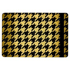 Houndstooth1 Black Marble & Gold Brushed Metal Apple Ipad Air Flip Case by trendistuff