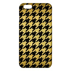 Houndstooth1 Black Marble & Gold Brushed Metal Iphone 6 Plus/6s Plus Tpu Case by trendistuff