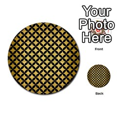 Circles3 Black Marble & Gold Brushed Metal (r) Multi Purpose Cards (round) by trendistuff