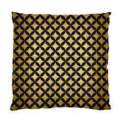 Circles3 Black Marble & Gold Brushed Metal (r) Standard Cushion Case (one Side) by trendistuff