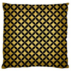 Circles3 Black Marble & Gold Brushed Metal (r) Large Cushion Case (one Side) by trendistuff