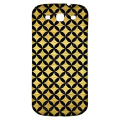 Circles3 Black Marble & Gold Brushed Metal (r) Samsung Galaxy S3 S Iii Classic Hardshell Back Case by trendistuff