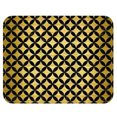 Circles3 Black Marble & Gold Brushed Metal (r) Double Sided Flano Blanket (medium) by trendistuff