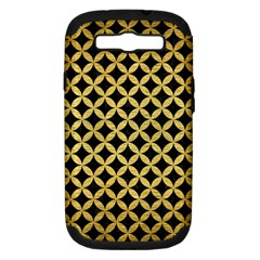 Circles3 Black Marble & Gold Brushed Metal Samsung Galaxy S Iii Hardshell Case (pc+silicone) by trendistuff