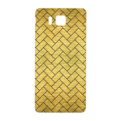 Brick2 Black Marble & Gold Brushed Metal (r) Samsung Galaxy Alpha Hardshell Back Case by trendistuff