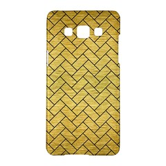 Brick2 Black Marble & Gold Brushed Metal (r) Samsung Galaxy A5 Hardshell Case  by trendistuff