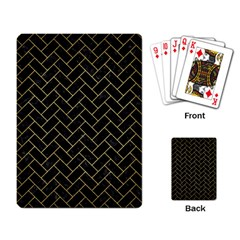 Brick2 Black Marble & Gold Brushed Metal Playing Cards Single Design by trendistuff