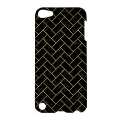 Brick2 Black Marble & Gold Brushed Metal Apple Ipod Touch 5 Hardshell Case by trendistuff