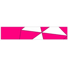 Funny Hot Pink White Geometric Triangles Kids Art Flano Scarf (large) by yoursparklingshop