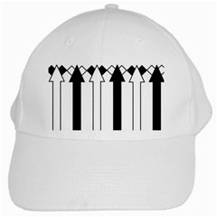 Funny Black and White Stripes Diamonds Arrows White Cap