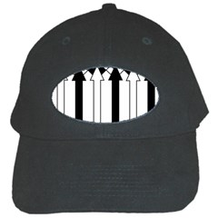 Funny Black and White Stripes Diamonds Arrows Black Cap