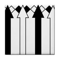 Funny Black and White Stripes Diamonds Arrows Tile Coasters