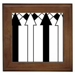 Funny Black and White Stripes Diamonds Arrows Framed Tiles