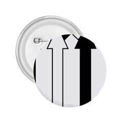 Funny Black and White Stripes Diamonds Arrows 2.25  Buttons