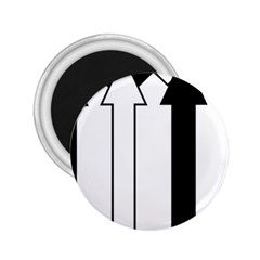 Funny Black and White Stripes Diamonds Arrows 2.25  Magnets